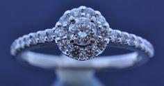 14k White Gold Elegant Diamond Engagement Ring | Sink Jewelers
