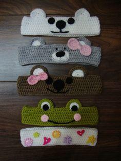 Best Ideas For Crochet Kids Headbands Pattern Crochet Baby Hat Patterns, Crochet Headband Pattern, Crochet Baby Booties, Knitted Headband, Braid Headband, Knitted Baby, Crochet Crafts, Crochet Projects, Crochet Hair Accessories