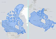 Did we mention it's big? Canada is massive. This map shows how large Canada is compared to Australia. 15 Interesting Maps That Will Change The Way You See Canada Canada Eh, Canada Travel, World History, No Way, North America, Maps, Change, Activities, Australia