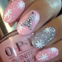 Instagram photo by bornprettystore - @pink_is_prettier thanks for your so nice designs . Use Effile Tower nail art decoration #16963 from bps . Please use PSX31 to enjoy 10% off discount when shop in our store .