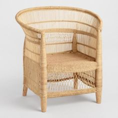 Malawi Wicker Chair - very much like the southern living idea 2017 house used for dining chairs Wicker Chairs, Wicker Furniture, Home Furniture, Chair Cushions, Cottage Furniture, White Wicker Chair, Wicker Armchair, Wicker Dresser, Wicker Couch