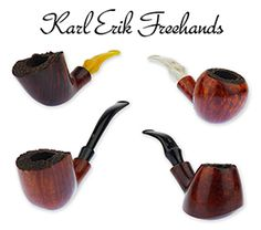 Something for Everyone - Karl Erik freehands are some of our bestselling pipes, so it's no surprise we're back with a new selection of these wallet-friendly briars. Available in all manner of shapes, sizes, and finishes, today's Karl Erik freehand pipes are crafted with the same techniques and visual cues employed by the legendary pipe maker for which they are named. These solid smokers have broad appeal, offering up a little something for just about everyone.