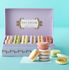 DARLING MacaroonBox two's company from shopwaitingonmartha.com.  $120 for 12.  I love these!