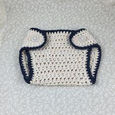 Crochet Diaper Cover Handmade Detailed In Blue by ForLittlePaws Awesome baby shower gift