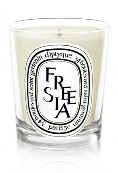 The best Diptyque candles! One of them is Freesia
