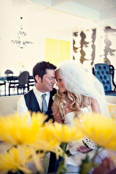 Amanda Rae Photography. Sugar Branch Events. Black & Yellow Retro Wedding.