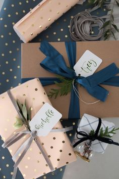 Gift wrapping idea | Wrap is up pretty | http://monikahibbs.com