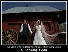Couples Photography Poses Looking Away but Still Holding Hands
