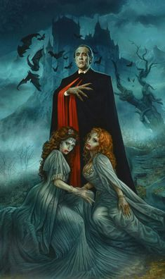 Christopher Lee / Hammer Dracula Private original art commission of Christopher Lee as Dracula Greg Staples Gothic Horror, Retro Horror, Horror Icons, Horror Comics, Arte Horror, Vintage Horror, Horror Art, Dc Comics, Vintage Book Covers