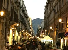 Palermo Sicily at night