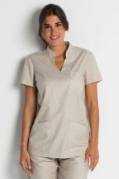 Dickies Scrubs Women's Gen Flex Junior Fit Contrast Stitch V neck Shirt, White, Large Spa Uniform, Hotel Uniform, Scrubs Uniform, Dental Uniforms, Work Uniforms, Staff Uniforms, Diy Couture, Couture Tops, Scrubs Pattern
