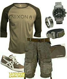 Men's fashion casual summer outfit