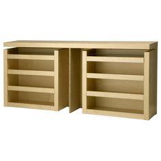 MALM Cabeceira/estante p/cama 3 peças - chapa de bétula, 160 cm - IKEA