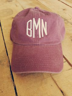 Monogrammed Baseball Cap for Women by ShopTinRoofDesigns on Etsy