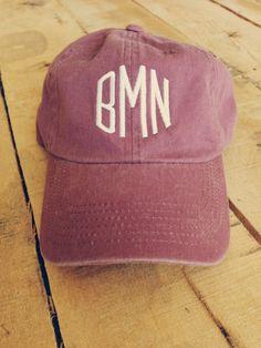 Monogrammed Baseball Cap for Women by ShopTinRoofDesigns on Etsy