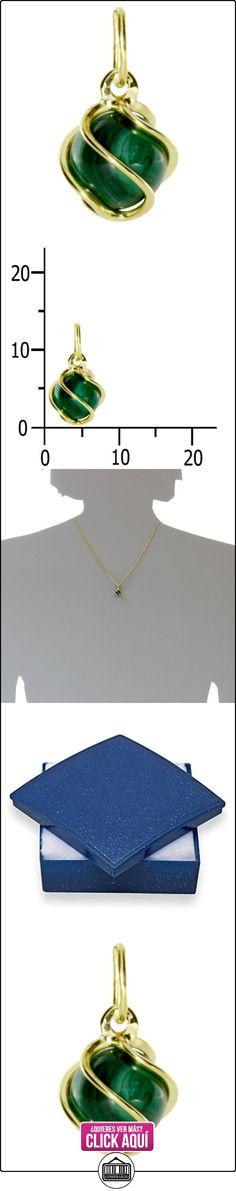 InCollections - Colgante de oro amarillo de 8 quilates con malaquita  ✿ Joyas para mujer - Las mejores ofertas ✿ ▬► Ver oferta: https://comprar.io/goto/B00DVJVDIA