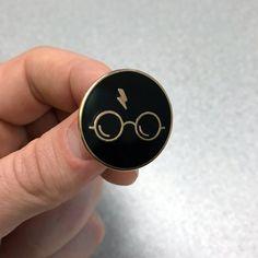 """Harry Potter Enamel Pin ( 1"""" hard enamel lapel pin or hat pin ) by joneallen on Etsy https://www.etsy.com/listing/499472393/harry-potter-enamel-pin-1-hard-enamel"""