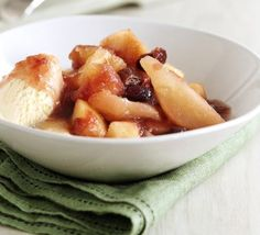 Apple, pear & cherry compote recipe, Great as an easy dessert for Sunday lunch, then use for breakfasts and midweek puds Pear Compote, Cherry Compote, Fruit Compote, Bbc Good Food Recipes, Cooking Recipes, Yummy Food, Batch Cooking, Nutritious Breakfast, Breakfast Fruit