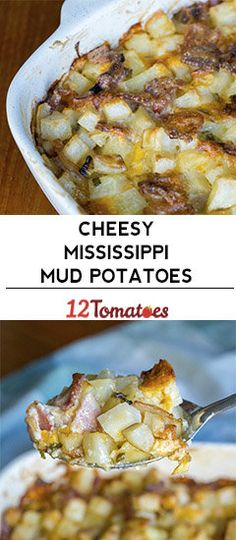Cheesy Mississippi Mud Potatoes