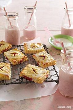 We want to consciously eat a couple of these Strawberry-Rhubarb Tartlets.
