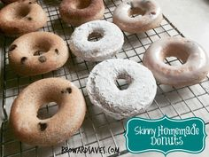 Easy to make and delicious! This Skinny Homemade Baked Donuts Recipe has only 60 calories and 1.1 grams of fat. Just simple ingredients make this a winner!