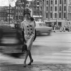 1961. Amsterdam showing of the 1961 collection of fashion designer Max Heymans. Photo Ed Suister. #amsterdam #1961