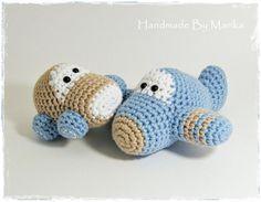 Crochet toy baby rattles amigurumi airplane and car by ByMarika, $41.00