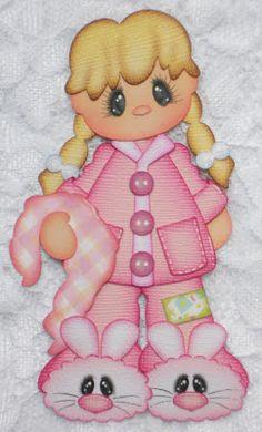 Nena en pijamas.