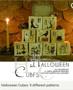 Halloween Cubes ..9 different  patterns