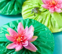 lily pad favors for princess & the frog or swan princess #throwback