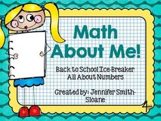 Math About Me Project- Back to School- Icebreaker to get to know students through Numbers! Includes: Teacher Directions, Planning Sheets and Templates for Math About Me Posters