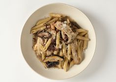 Bon Appetit - Penne with Pancetta Sage, and mushrooms
