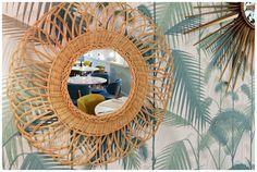 Transformation déco : Sarah Guedj & Esther Goldszmidt, un restaurant dans un esprit vintage | Papier peint Palm Jungle