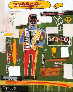 Jean-Michel Basquiat, Zydeco (detail), 1984✋ARTIST ✋JEAN MICHELLE BASQUIAT Pins Like This At FOSTERGINGER @ Pinterest✋