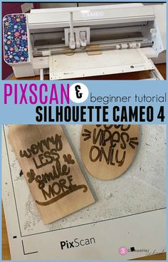 PixScan & Silhouette CAMEO 4 Beginner Tutorial Silhouette Cameo Tutorials, Silhouette Projects, Silhouette School Blog, Silhouette Studio, Mixed Media Tutorials, Art Journal Techniques, Wooden Shapes, Pen Sketch, Printed Materials