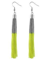 Silver and Yellow Neon Earrings H Canada