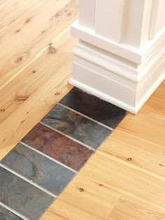 A Really Cool Way To Tie Two Different Hardwood Lots Together - Hardwood floor transition