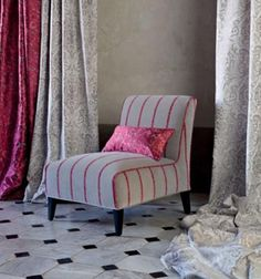 So cute for a bedroom chair.  SARGEANT CHAIR IN ROMO | ROBERT.LANGFORD.LONDON