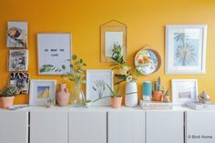 More than proud and excited to share the photo's of the interiordesign I have made for television program Eigen Huis & Tuin. { Sorry for the quality of the photo's which are made wi… Bedroom Wall, Bedroom Decor, Bedroom Ideas, Colorful Apartment, Yellow Interior, Bright Homes, Living Room Inspiration, New Room, House Rooms