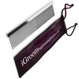 Dog Supplies Durable Steel Pet Comb - Use With Dog Clippers, Scissors, Sheers, Dog Grooming Table, Grooming Kit, Brush - Free 65-Page Dog Grooming E-Book And E-Newsletters - Good For Cat Grooming, Horse And Other Pet Grooming Too - 100% Mone