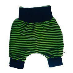 Baggy pants 'Stripes' green - Size 50 - 98 cm / Newborn - 3 years