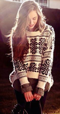 #fall #fashion / cozy fall sweater