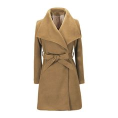 Khaki Fashion Seamed Pockets Outerwear with Belt (488.380 IDR) ❤ liked on Polyvore featuring outerwear, coats, lapel coat, hooded coat, brown coat and khaki coat