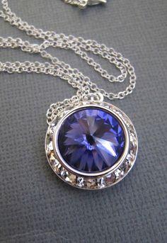 Swarovski Crystal Necklace GLAMOROUS Rivoli in by RoyalGoldGifts, $27.00