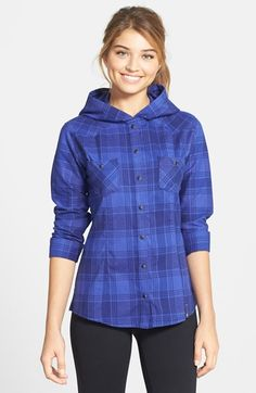 Mountain Hardwear 'Stretchstone Flannel™' Hooded Shirt available at #Nordstrom #fashion