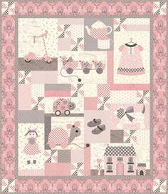 "Moda Bunny Hill ""Ooh La La Sugar & Spice"" girl's pink quilt"