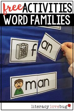 Need word families activities for kindergarten or first grade students? This printable hands-on activity is free to sample and include -at, -ap and -an word families. They are perfect for guided reading groups, centers, word work and more!