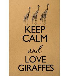 Keep calm and love giraffes Alex Digital Image by MillionDownloads, $1.00