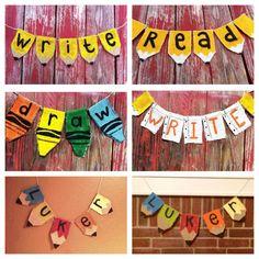 Burlap Door Hanger: Pencil - Teacher Appreciation, End of Year Gift, Back to School