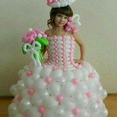 Vestido de novia -  disfraz de globos